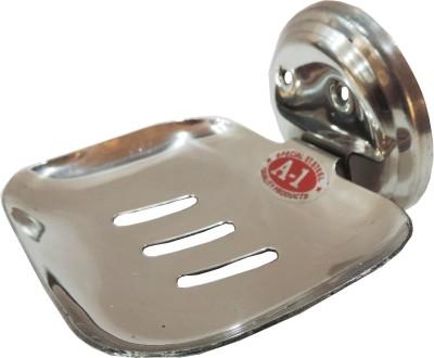 Epraiser A1 SS Open Square Elegant Soap Dish(Silver)