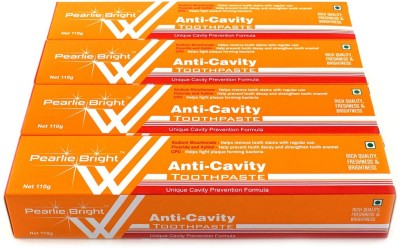 Pearlie Bright Anti-Cavity (Pack of 4) Toothpaste(110 g, Pack of 4)