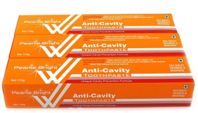 Pearlie Bright Anti-Cavity (Pack of 3) Toothpaste(110 g)