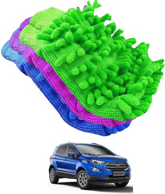 DvineAutoFashionZ Microfiber Vehicle Washing Hand Glove Pack Of 3