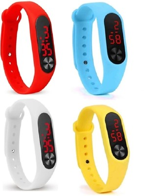 kids choice 4 Digital led Watch Band COMBO LOW PRICE DEFERENT Colour Mens Watch Womens Watch Boys Watch Girls Watch digital band Digital Watch  - For Men & Women