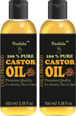 Vadhika 100% Pure & Natural Cold Pressed Castor Oil Hair Oil(200 ml)