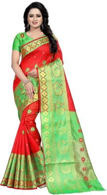 Ecolors Fab Woven Banarasi Poly Silk, Cotton Silk, Art Silk, Poly Silk, Tussar Silk Saree(Multicolor)