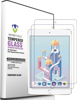 MOBIVIILE Tempered Glass Guard for Apple iPad Mini (2019) 7.9 Inch Screen Size(Pack of 2)