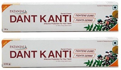 Patanjali Dant Kanti Toothpaste Pack of 200 g & 100g Toothpaste(300 g, Pack of 2)