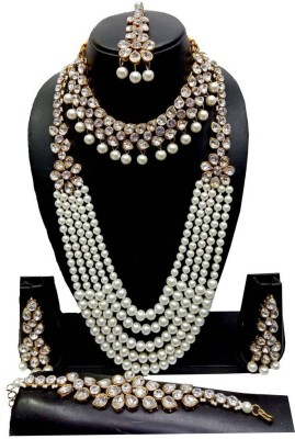 MB Jewellery Metal Jewel Set White