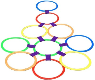 TEMSON 10 Rings & 10 Ring Clips Twister Hopscotch Active(Multicolor)