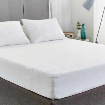Trance Home Linen Fitted Queen Size Waterproof Mattress Protector(White)