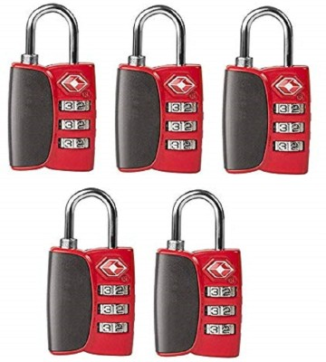 Premsons Travel Suitcase & Baggage - Pack of 5 - (Red) Safety Lock(Red)