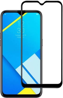 MRNKA Edge To Edge Tempered Glass for Realme C2, Gionee Max, OPPO A1K(Pack of 1)