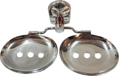 Epraiser A1 SS Nano Double Oval Deluxe Elegant Soap Dish(Silver)