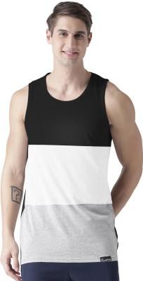 Young Trendz Broad Stripes Men Round Neck Black, Grey, White T-Shirt