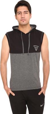 DFH Color Block Men Hooded Neck Multicolor T-Shirt