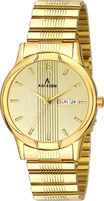 ADIXION 1580YM04 New Stainless Steel Day & Date round Gold watch Analog Watch  - For Men