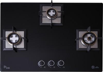 Seavy 3 Burner Built In Hob (Mega Max) Glass, Steel Automatic Hob(3 Burners)