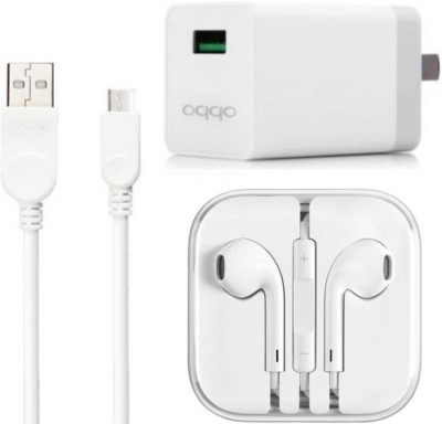 OPPO Wall Charger Accessory Combo for oppo mobile phone charger, oppo f1 s, oppo f3, oppo f5, oppo A37Buy With Best Seller Garg Associates(White)(White)
