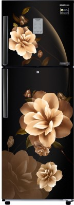 Samsung 253 L Frost Free Double Door 3 Star Convertible Refrigerator(Camellia Black, RT28R3923CB/HL) at flipkart