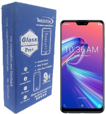 BRIGHTRON Edge To Edge Tempered Glass for BRIGHTRON Tempered Glass Screen Protector [11D] - Full HD, Shatterproof, Anti Scratch Screen Guard For Asus Zenfone Max Pro M2 (Black Edition)(Pack of 1)