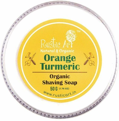 Rustic Art Orange Turmeric Organic Shaving Soap 50 g Shaving Soap(1 g)