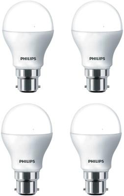 Philips 9 W Standard B22 LED Bulb(White, Pack of 4)