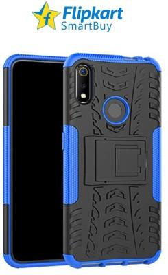 Flipkart SmartBuy Back Cover for Realme 3, Realme 3i(Blue, Black, Camera Bump Protector)