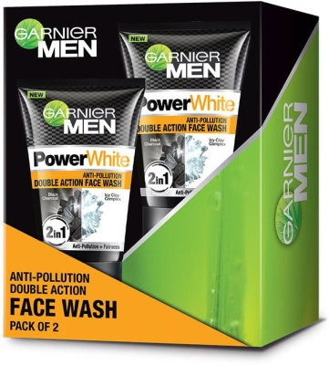 GARNIER Men Power white Anti-Pollution Double Action Face Wash(200 g)