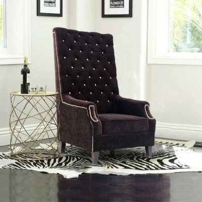 PRIMROSE Maharaja High Back Chair Solid Wood Living Room Chair(Finish Color - Purple)