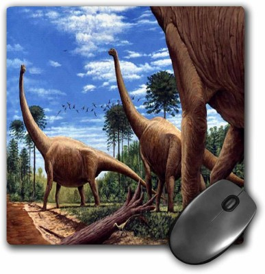 3dRose Dinosaur Brachiosaurus Mousepad(Multicolor)