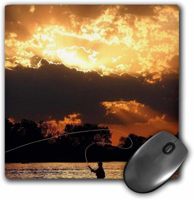 3dRose Fly Fishing at Sunset, Mousepad(Multicolor)