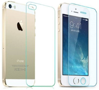 Maxpro Front and Back Tempered Glass for Apple iPhone 5(Pack of 2)