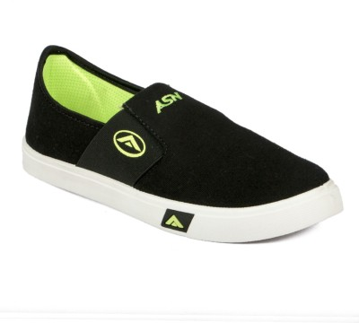 Asian Casuals For Men Green, Black Asian Casual Shoes