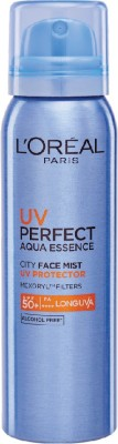 L'Oreal UV Perfect Aqua Essence City Face Mist - SPF 50+ PA++++ (64 g)