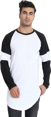 LALAN TOP Color Block Men Round Neck White, Black T-Shirt