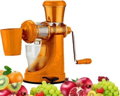 Haiko Plastic Hand Juicer Store Fruits and Vegetables Hand Juicer with Waste Collector(Orange Pack of 1)
