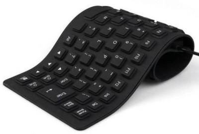 BLENDIA Premium Series Flexible Foldable Wired USB Laptop Keyboard Wired USB Laptop Keyboard Black BLENDIA Keyboards