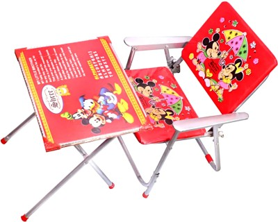 Avani MetroBuzz New Kids Table and Chair Set Red Solid Wood Desk Chair(Finish Color - Red)