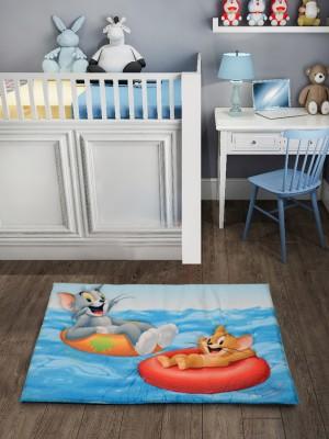 Saral Home Velvet Baby Play Mat(Light Blue, Medium)