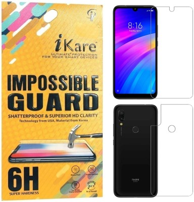 iKare Front and Back Screen Guard for Mi Redmi 7, Mi Redmi Y3(Pack of 1)