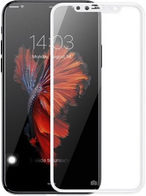B-Unique Tempered Glass Guard for Iphone X (5D White)(Pack of 1)