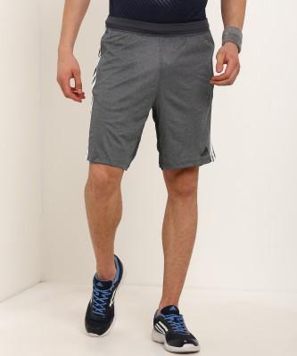 ADIDAS Self Design Men Grey Sports Shorts