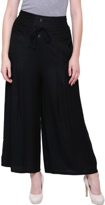 ROSHI Regular Fit Women Black Trousers