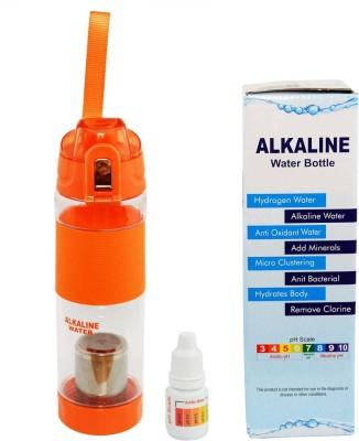 md creations 600 ml Water Purifier Bottle(Orange)