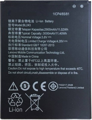 MudShi Mobile Battery For Lenovo A7700/K3 Note