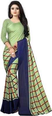 TRUNDZ Striped Fashion Art Silk Saree Green TRUNDZ Women's Sarees