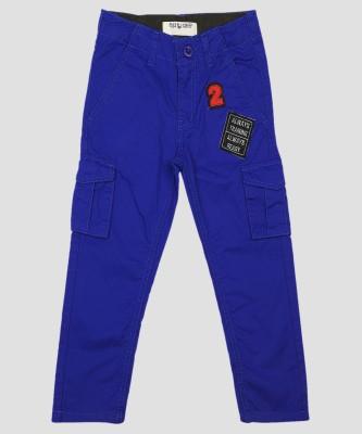 Miss & Chief Slim Fit Boys Blue Trousers at flipkart