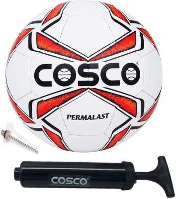 Cosco Permalast Football With Ball Pump Football - Size: 5(Pack of 2, Multicolor)