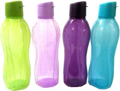 Tupperware Fliptop 1 Ltr Set of 4 1000 ml Bottle(Pack of 4, Multicolor)
