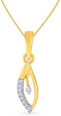 Malabar Gold and Diamonds P152644MP 18kt Diamond Yellow Gold Pendant