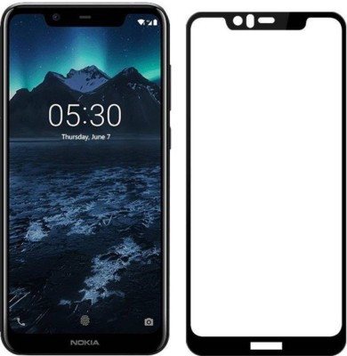 EASYBIZZ Edge To Edge Tempered Glass for Nokia 5.1 Plus(Pack of 1)