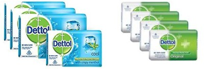 Dettol Epic Cool Soap ( 4*125 G) + Original Soap (4*125 G) ( Pack of 8)(8 x 125 g)